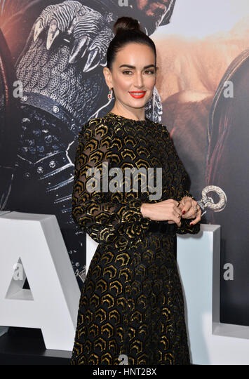 Los Angeles, USA. 15th February 2017. Actress Ana de la Reguera at the premiere for 'The Great Wall' at - Stock Image