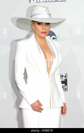 Los Angeles, USA. 20th Nov, 2016. Lady Gaga attends the American Music Awards, AMAs, at Microsoft Theatre in Los - Stock Image