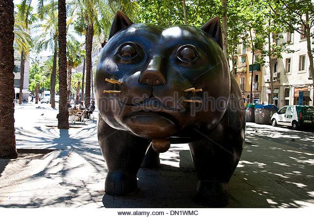 Big Cat Sculpture Barcelona