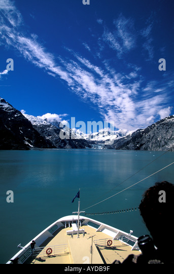 Alaska Cruising the Inside Passage - Stock Image