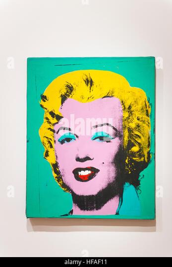 USA capital Washington DC District Columbia National Gallery of Art Andy Warhol Green Marilyn 1962 acrylic silkscreen - Stock Image