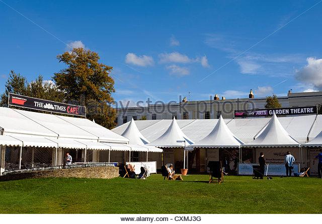 Literature festival in Cheltenham, UK. - Stock Image