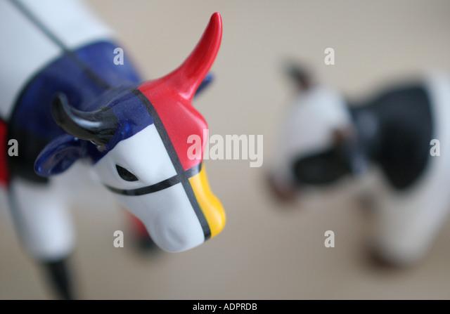 Florida, cow, steer, farm animals, miniatures, models, narrow focus, - Stock Image