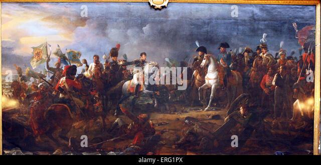Bataille d' Austerlitz gagnee par l'Empereur Napoleon 2 Decembre 1805 - Stock Image