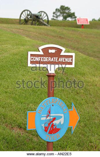 Mississippi Vicksburg National Military Park Civil War battle site - Stock Image