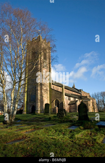 Parish church of St Mary the Virgin, Prestwich, Bury, Greater Manchester, UK - Stock Image