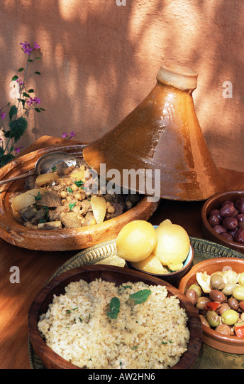 Lamb stew in a tagine - Stock Image