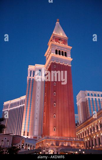 Las Vegas Nevada Las Vegas Strip at Night The Venetian - Stock Image