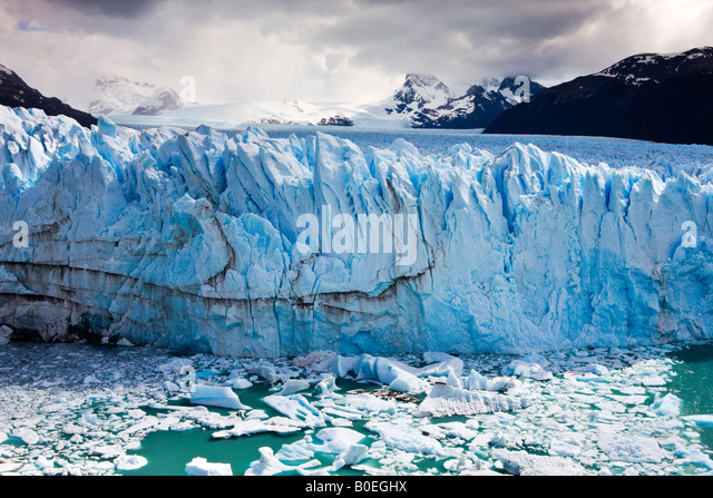 Spectacular Perito Moreno glacier situated within Los Glaciares National Park Patagonia Argentina - Stock Image
