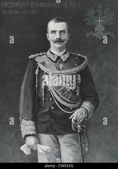 King Victor-Emmanuel III (1903) - Stock Image