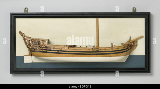 Half Model of an Admiralty yacht, Anonymous, 1725 - 1790 - Stock Image