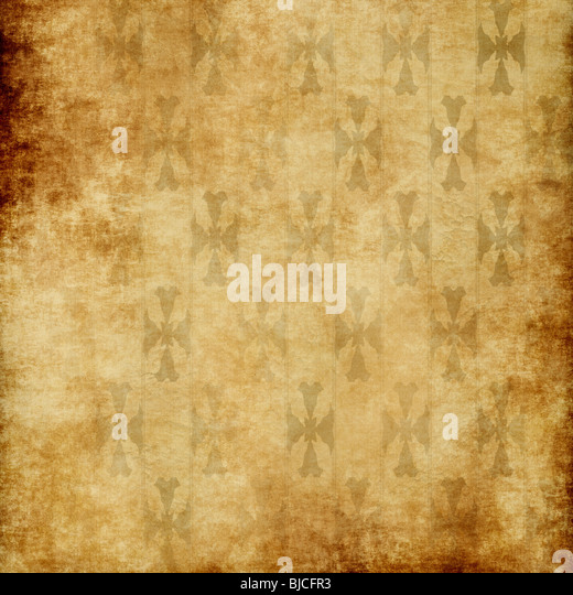 background image of old grungy paper or wallpaper - Stock Image