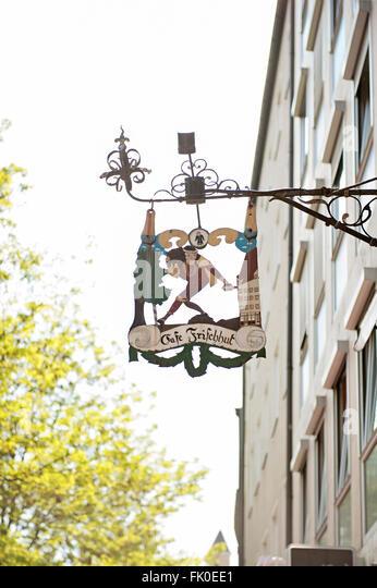 Cafe Frischhut, Munich, Germany - Stock-Bilder