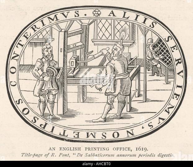 English Print House 1619 - Stock Image