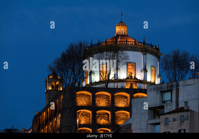 Mosteriro da Serra do Pilar in the city of Porto (Oporto) in Portugal. - Stock Image