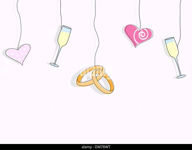 Wedding invitaion - Stock Image