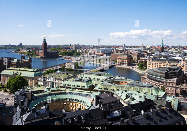 View of Stockholm Sweden. - Stock Image