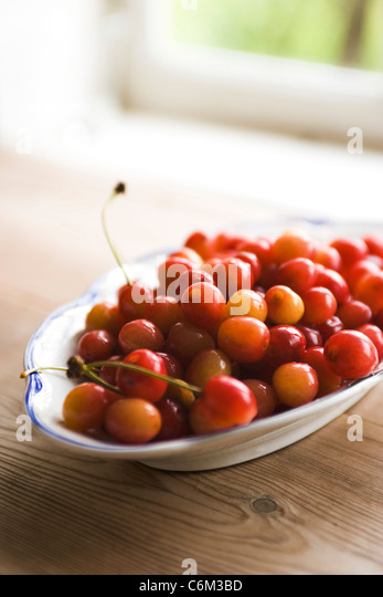 Fresh cherries - Stock Image