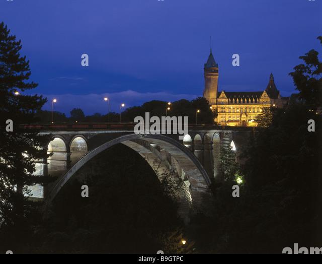 Adolphe bridge stock photos adolphe bridge stock images for Caa luxembourg