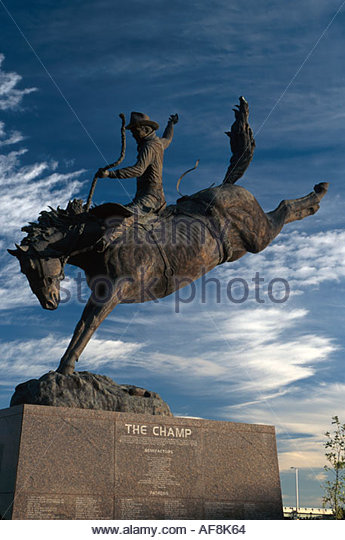 Colorado Colorado Springs Pro Rodeo Hall of Fame The Champ statue by Edd Hayes - Stock Image