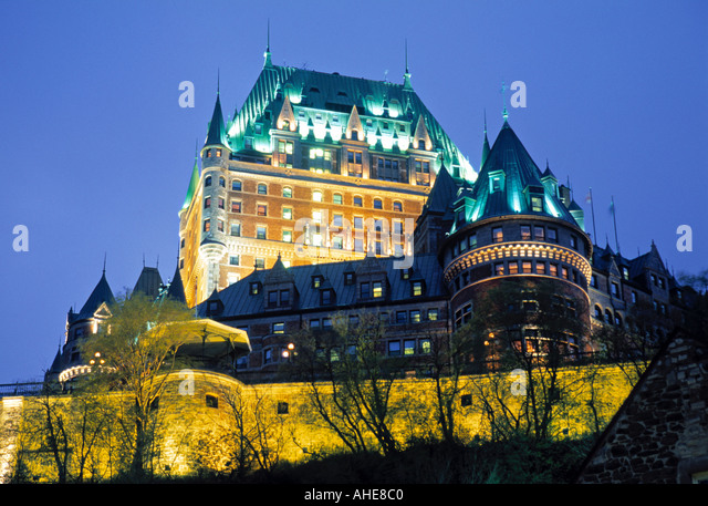 Chateau Frontenac, Quebec City, Quebec, Canada - Stock Image