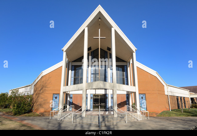 Architecture of a modern church - Stock Image