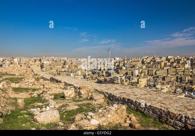 Amman city in Jordan - Stock Image