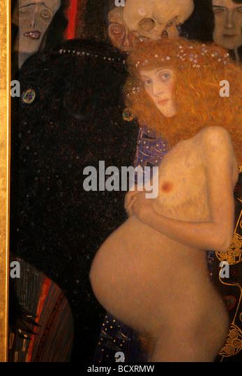 gustav klimt, hope I, 1903, musée des beaux arts, montreal, quebec, canada - Stock-Bilder