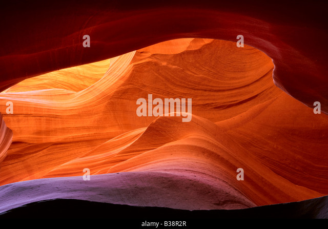 Abstract patterns in Lower Antelope Canyon Page Arizona - Stock-Bilder