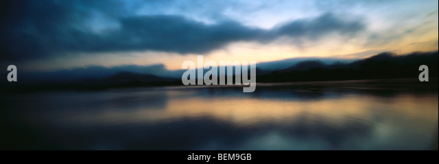 Myanmar (Burma), waterscape at twilight - Stock-Bilder
