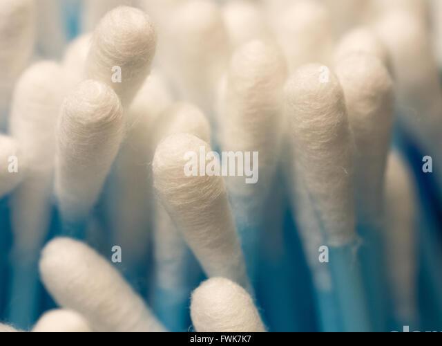 Full Frame Shot Of Cotton Swabs - Stock-Bilder