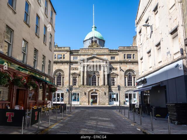 Trades Hall on Glassford Street, Glasgow, Scotland, Uk - Stock Image