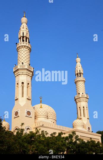Jumeirah Mosque , Dubai, United Arab Emirates - Stock Image