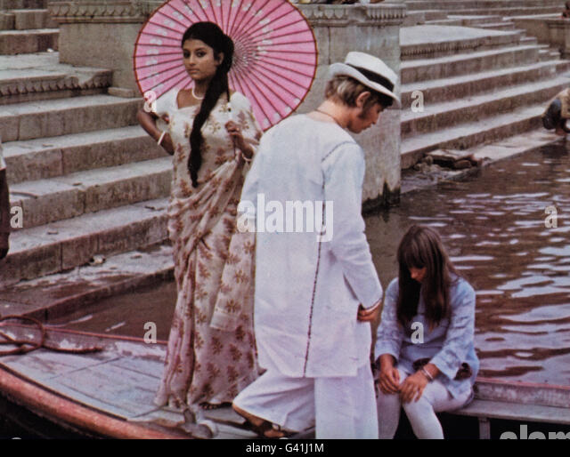 The Guru, USA/Indien 1969, Regie: James Ivory, Darsteller: Michael York, Rita Tushingham (rechts) - Stock-Bilder