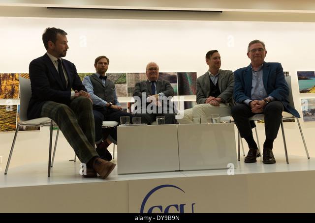 Brian Wilson of Harris Tweed, Glen Hoff, Mark Hogarth, Doug Shriver, Nick Sullivan attend launch of Fashion Sharing - Stock Image