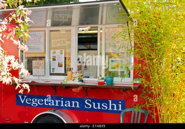 Food cart Portland, Oregon,  travel USA - Stock-Bilder