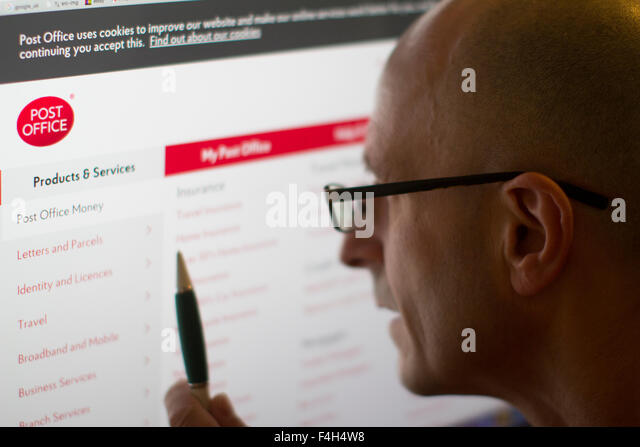 Post office stock photos post office stock images alamy - Internet banking post office ...