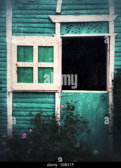 Colourful Small House - Stock Image