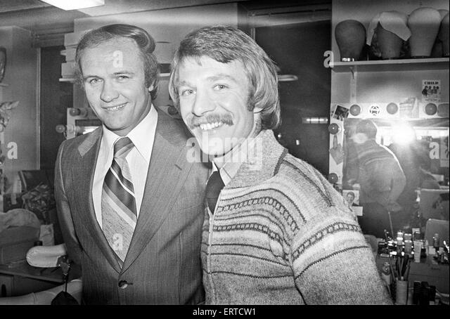 West Bromwich Albion manager Ron Atkinson and David Mills, a new signing. 7th January 1979. - Stock Image