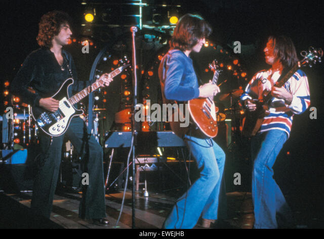 10 CC  English rock group in 1975. - Stock Image