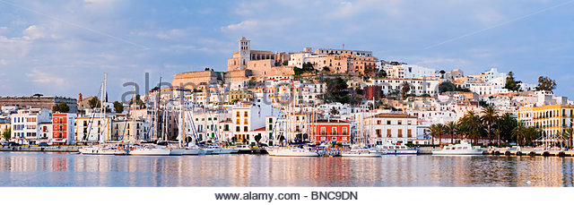 Dalt Vila (Ibiza Old town), Ibiza, Balearic Islands, Spain. - Stock Image
