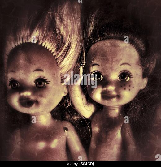 Creepy little dolls - Stock Image