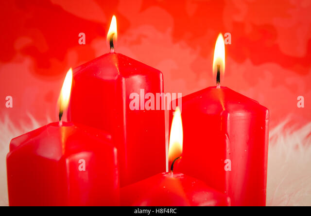 Advent candle red stock photos advent candle red stock for Advent candle decoration