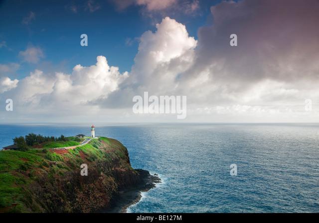 Kilauea Lighthouse. Kilauea Point National Wildlife Refuge, Kauai, Hawaii. - Stock-Bilder