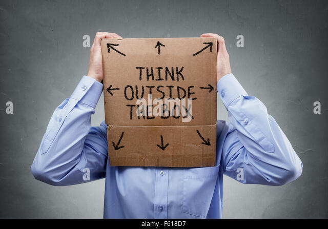 Think outside the box - Stock Image