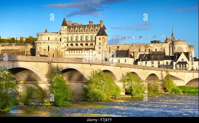Amboise Castle, Loire Valley, France - Stock Image