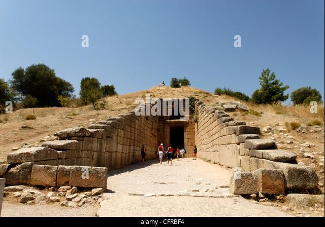 Tholos Mycenae Atreus Stock Photos & Tholos Mycenae Atreus ...