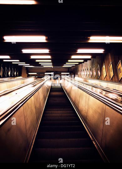 Escalator, Low Angle View - Stock Image