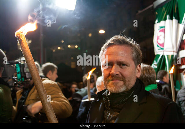 Copenhagen, Denmark. 15th November, 2015. Anders Samuelsen, MP and chairman for the Liberal Alliance, participates - Stock Image