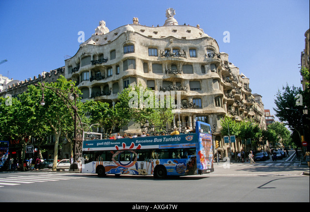 Barcelona, The Casa Mila - Stock Image
